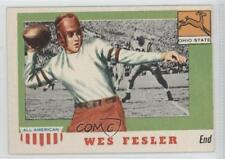 1955 Topps All American #30 Wes Fesler Ohio State Buckeyes RC Football Card