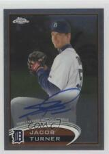 2012 Topps Chrome Rookie Autograph #39 Jacob Turner Detroit Tigers Auto Card