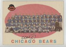 1959 Topps #104 Chicago Bears Team Check List Checklist RC Rookie Football Card