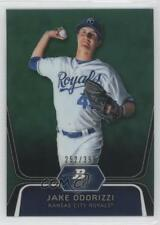 2012 Bowman Platinum Prospects Green Refractor BPP29 Jake Odorizzi Baseball Card