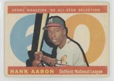 1960 Topps #566 Hank Aaron Milwaukee Braves Baseball Card