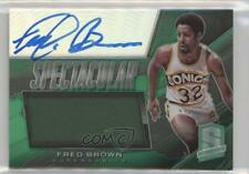 2013-14 Panini Spectra Spectacular Swatch Signatures #15 Fred Brown Auto Card