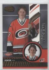 2003-04 Pacific Invincible 105 Eric Staal Carolina Hurricanes Rookie Hockey Card