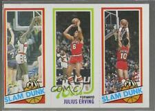 1980 Topps #EHJERB Slam Dunk Star (Elvin Hayes) Julius Erving (Ron Brewer) Card