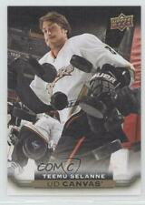 2015 Upper Deck UD Canvas #C251 Teemu Selanne Anaheim Ducks (Mighty of Anaheim)