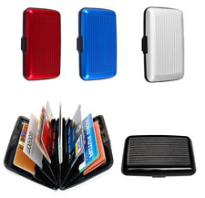 Aluminum Wallet RFID Pocket Water Resistant Business ID Credit Card Metal Case