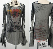 Visual kei fashion cool gothic punk rave nana lolita tee shirt top S M L XL XXL
