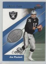 2002 Fleer Throwbacks QB Collection #3QB Jim Plunkett Oakland Raiders Card