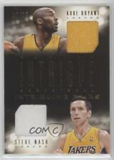 2013-14 Panini Intrigue Intriguing Pairs Jerseys #33 Kobe Bryant Steve Nash Card
