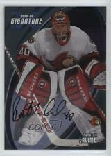 2002-03 In the Game Be A Player Signature Series #035 Patrick Lalime Auto Card
