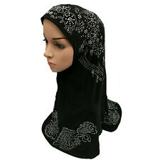 Deluxe Muslim Islamic Hijab Scarf Woman Amira Cap Fashion Beautiful Rhinestone
