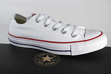 Converse All Star Lace Up Sneakers Trainers White, Textile/Canvas, M7652C NEW