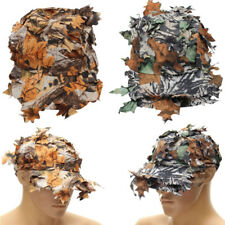 3D Leaves Tactical Camo Cap Ghillie Hat Hunting Game Airsoft Jungle Hunting