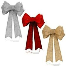 Giant Light Up Door Bow Gorgeous Christmas Decoration-Champagne / Red / Silver
