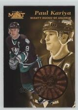 1996 Pinnacle Mint Bronze #5 Paul Kariya Anaheim Ducks (Mighty of Anaheim) Card