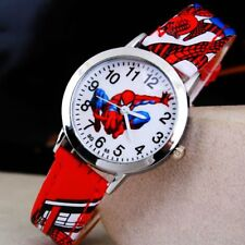 Cute Children 3D Cartoon Spiderman Quartz Sport Watch Wristwatch Gifts