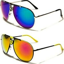 NEW SUNGLASSES BLACK MENS LADIES SPORT DESIGNER AVIATOR METAL RETRO MIRRORED BIG