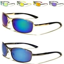DESIGNER SUNGLASSES METAL PILOT WRAP GOLF MIRRORED RUNNING UV400 MENS LADIES
