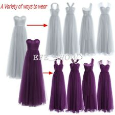 Long Formal Wedding Evening Strapless Dress Party Gown Prom Cocktail Bridesmaid