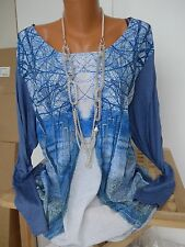 sheego Blouse Tunic Size 40/42 - 56/58 WITH DESIGN longer rear (068) NEW