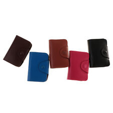 Leather Card Holder 12 Card Slots Large Capacity ID Credit Card Bag Wallet