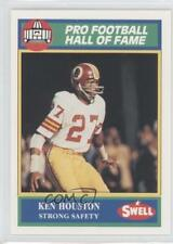 1990 Swell Pro Football Hall of Fame #132 Ken Houston Washington Redskins Card