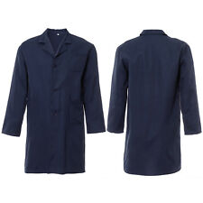 Unisex Navy Lab Coat Laboratory Warehouse Doctor Medical Food Hygiene Work Wear