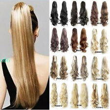 Jaw Ponytail Clip in Hair Extension Claw Pony tail Natural As Human Hairpiece AP