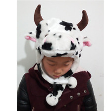 Good Kid Cartoon Animal Hat Plush Beanie Fleece Warm FLUFFY HOODED Cap Earmuff