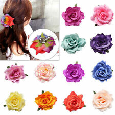 1pcs New Hairpin Rose Flower Bridesmaid Wedding Party Women Hair Clip Bridal