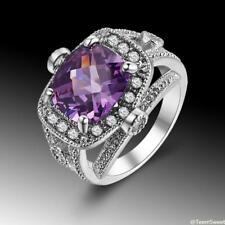 Stunning Sweet Friendship Jewelry Amethyst 925 Sterling Silver Ring size 7 8 9