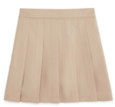 Izod Girls School Uniform Skirt Pleated Built In Shorts Khaki NWT Free Shipping!