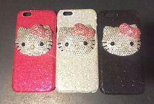 fits iPhone 6 6S glitter case bling crystals big diamonds cover 3D hello kitty