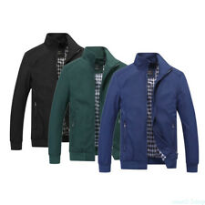 Fashion Men's Zipper Nylon Coats Casual Stand-up Collar Jackets Outerwear XW5B