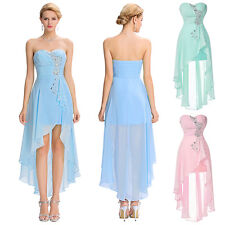 GK Strapless High-Low Chiffon Sweetheart Evening Dress Homecoming Party Dresses