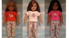 """Pajamas handmade for 18"""" American Girl Doll to fit 18 inch Doll Clothes 302-03ab"""