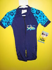 RADICOOL Rash Guard SPF UPF Swimwear Blue Hawaiian Surf Swim Wetsuit size 4 6 8