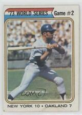 1974 Topps #473 '73 World Series Game #2 (Willie Mays) New York Mets Card