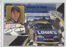 2002 Press Pass Trackside License to Drive #LD15 Jimmie Johnson Racing Card