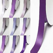"""by the 5 yards double faced satin ribbon 3/8"""" /9mm  lilac purple s color"""