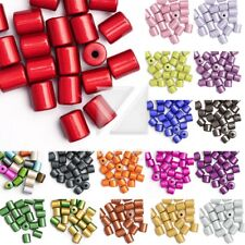 20/25pcs Acrylic Cylinder Miracle Beads Illusion IW 8.5x8.5x8mm/10x8x8mm