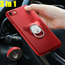 Ring Kickstand Shockproof Protective Cover Case Magnetic Car Mount For iPhone 7