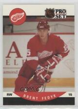 1990-91 Pro Set #435 Brent Fedyk Detroit Red Wings RC Rookie Hockey Card