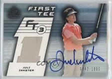 2003 SP Game Used Edition #78 Juli Inkster Auto Autographed RC Rookie Golf Card
