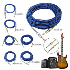 """1-20M 1/4"""" 6.35mm Jack Audio Male to Male Stereo Cable for Electric Guitar Lot"""