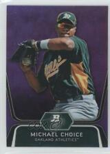 2012 Bowman Platinum Prospects Retail Purple Refractor #BPP8 Michael Choice Card