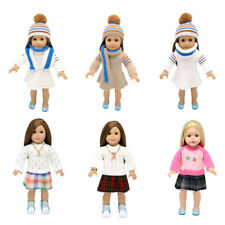 Fashion Long Sleeve Knitted Crewneck Sweater Dress For 18'' American Girl Doll