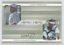 2007 Ace Authentic Straight Sets Head to HH-7 Andy Roddick David Nalbandian Card