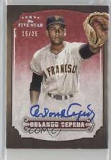 2012 Topps Five Star #FSA-OC Orlando Cepeda San Francisco Giants Auto Card