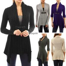 Women Casual Long Sleeve Knitted Cardigan Loose Sweater Jacket Coat UTAR